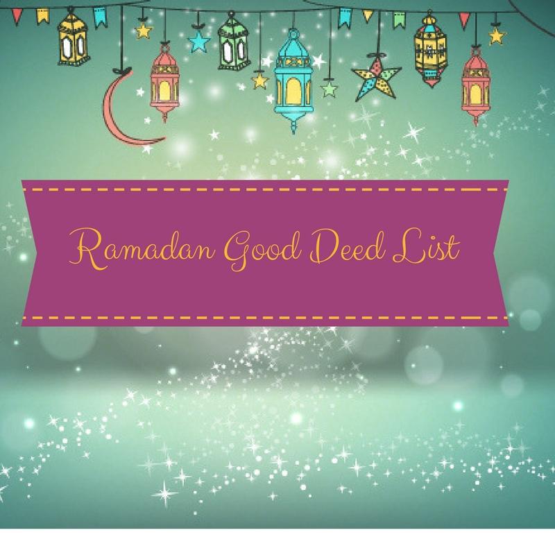 Click Image to print the Ramadan Good Deed List