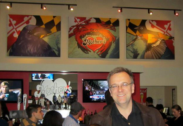 Joe Barsin at Mother's Peninsula Grill, Arnold, Maryland in fall of 2013. first unveiling of citizen pride.