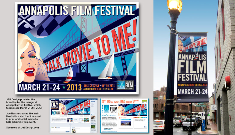 Shown here are additional promotional materials that JEB Design developed for the first film festival of 2013.
