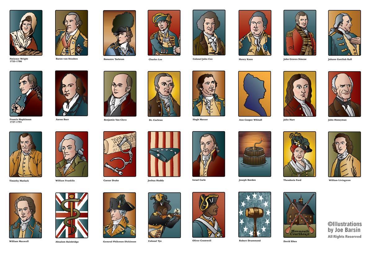 New Jersey's Revolutionary Neighbors. Illustrations by Joe Barsin