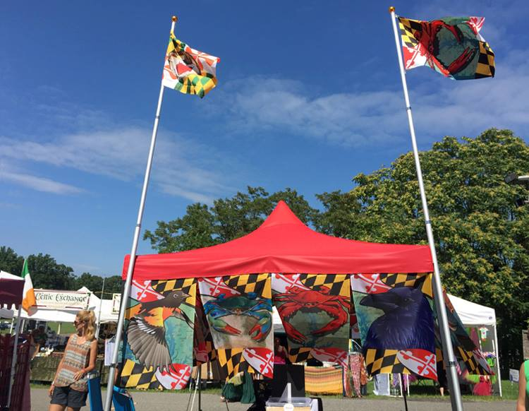 Beautiful weather at the July 10 & 11, 2015Annapolis Irish Festival. Citizen Pride's booth was colorful, as usual!