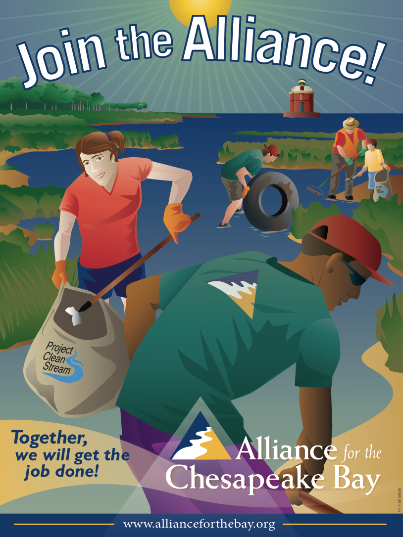 ALLIANCE'S project clean stream, art by joe barsin