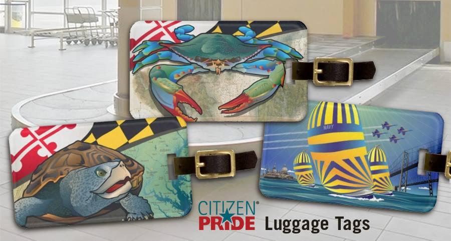 Luggage tag designs by Citizen Pride