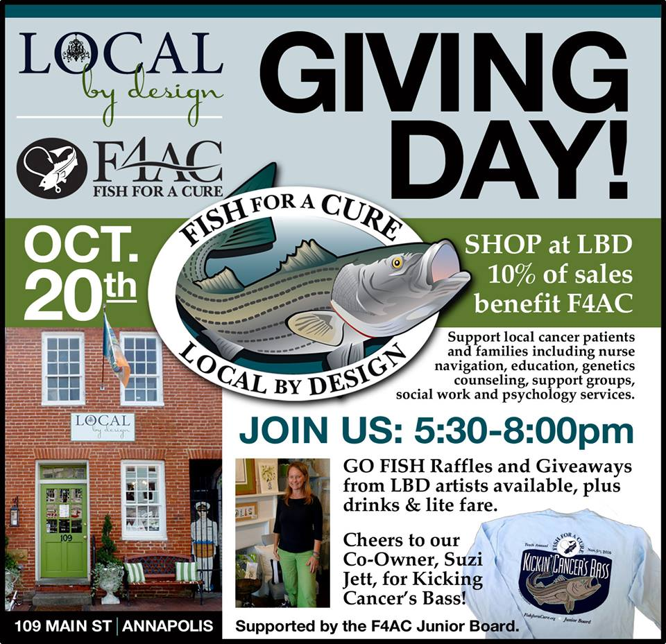 Oct. 20 2016 is Giving Day for F4AC at LOCAL by Design