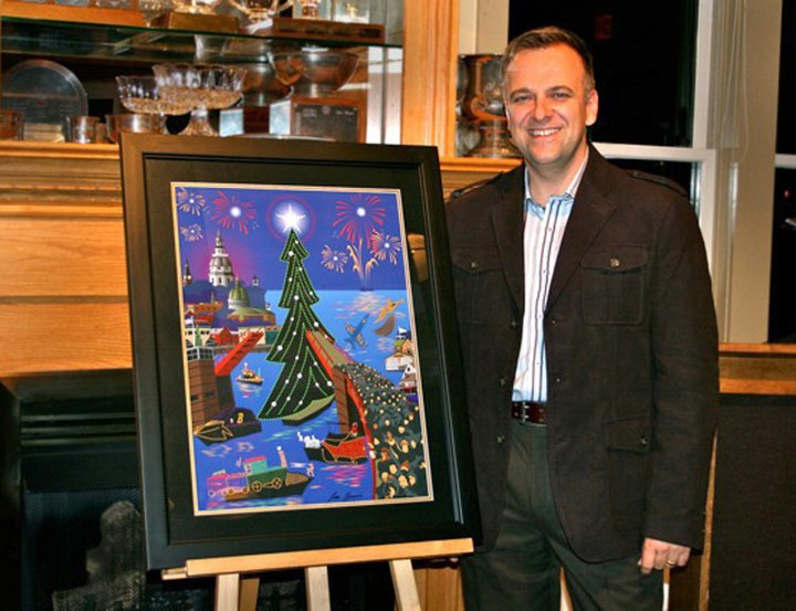 The Eastport yacht club light parade poster unveil in 2010. my first step into the fine art world and away from corporate design.