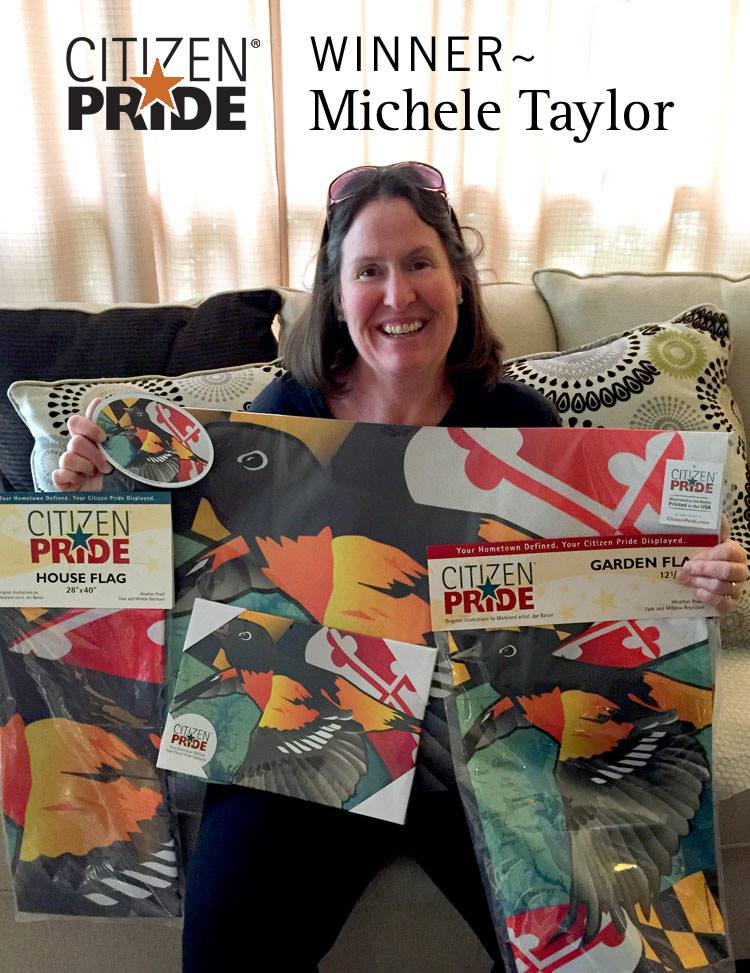 Michele Taylor sent us this picture of all the Oriole products she won in our recent Facebook content.