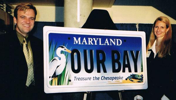 Joe and Eva Barsin at the Bay Plate Reveal Event at the National Aquarium in Baltimore