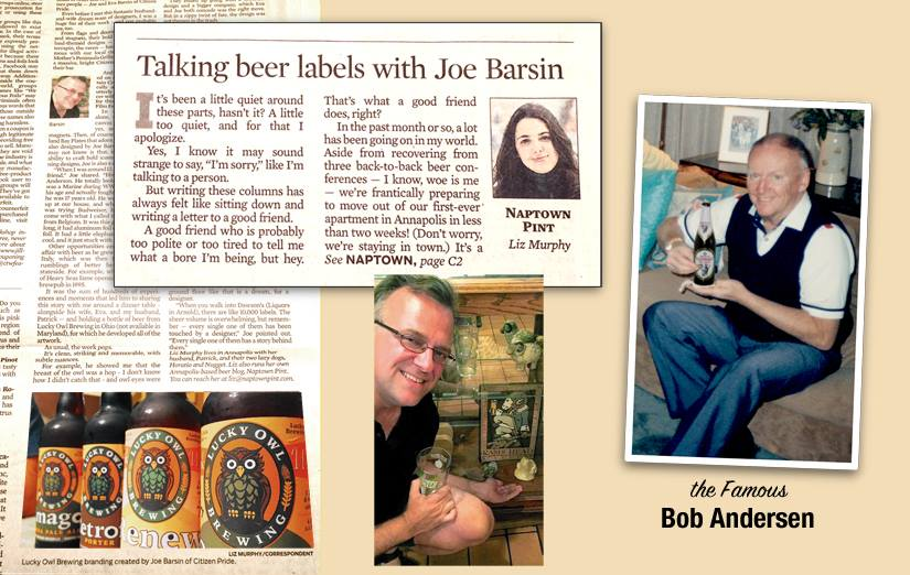 """Honored to be featured in the Capital Gazette's """"Naptown Pint"""" column by Liz Murphy."""