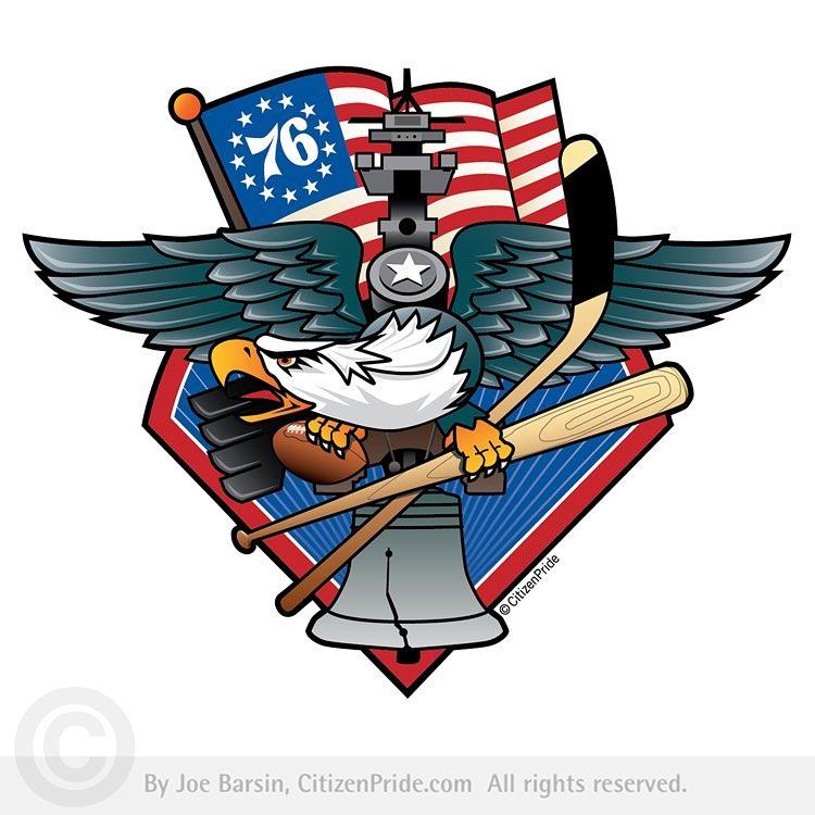 Fly, Philly, Fly! Philadelphia Sports Fan Crest
