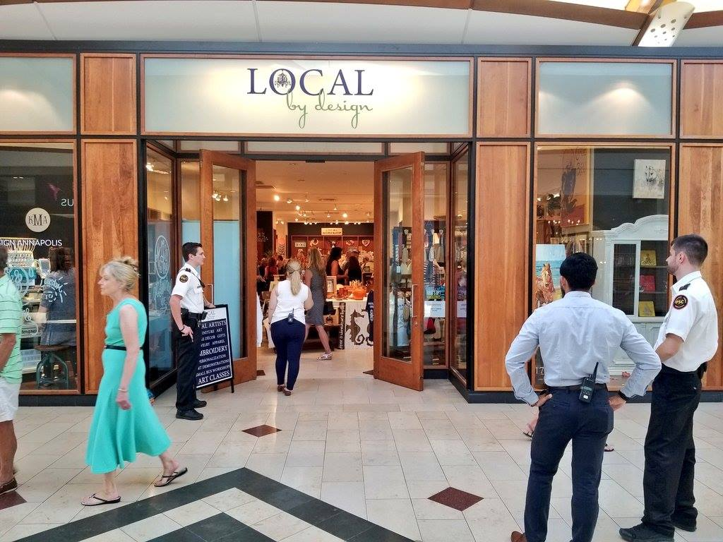 Entrance of Local by Design in the Annapolis Mall. Thank you Mall Security for a great job!