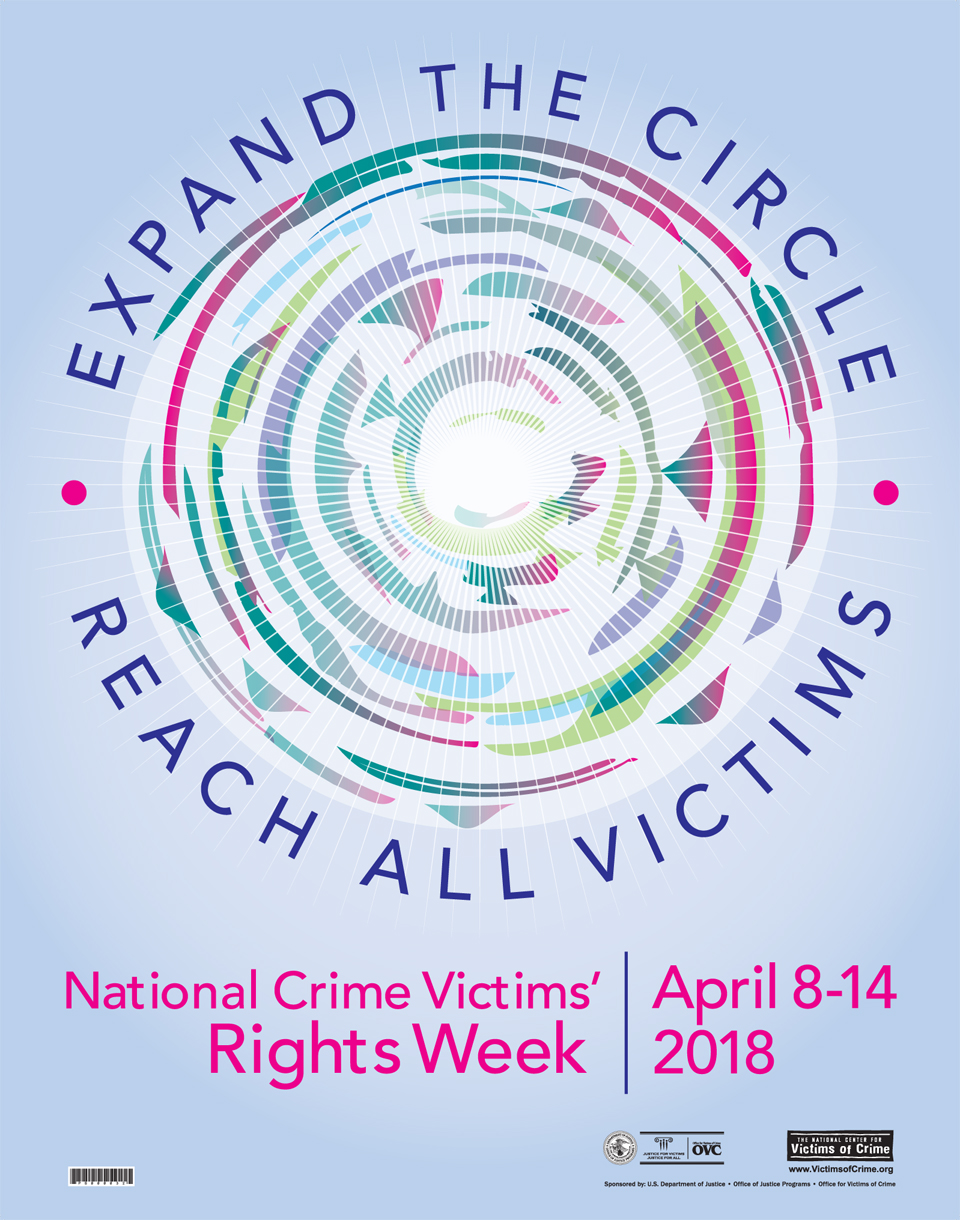 The  2018 National Crime Victims' Rights Week Poster  by  Joe Barsin