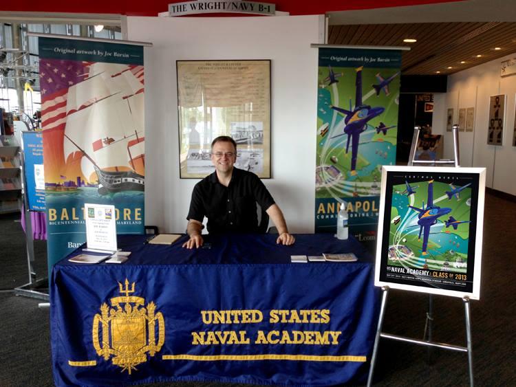 Joe Barsin at the USNA Visitors Center's Poster Signing Event