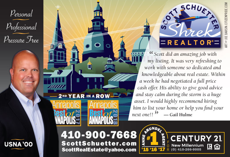 Spring Theme - Scott Schuetter Realtor Ad - part of an ongoing campaign in What's Up? Annapolis  magazine