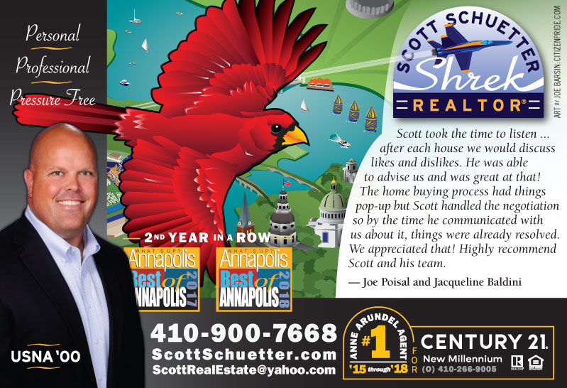 Early Spring Theme - Scott Schuetter Realtor Ad - part of an ongoing campaign in What's Up? Annapolis  magazine