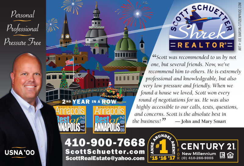 Holiday Theme - Scott Schuetter Realtor Ad - part of an ongoing campaign in What's Up? Annapolis  magazine