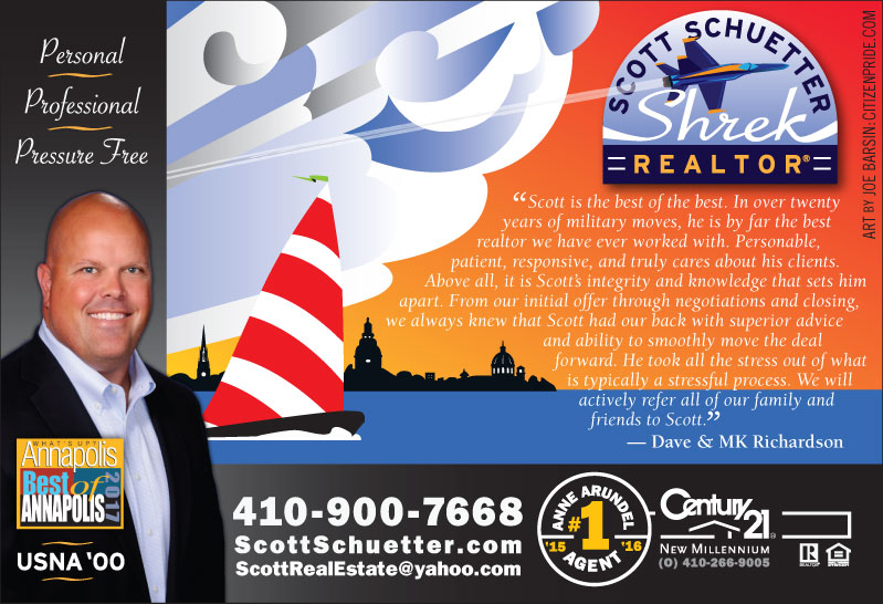 Late Spring Theme - Scott Schuetter Realtor Ad - part of an ongoing campaign in What's Up? Annapolis  magazine