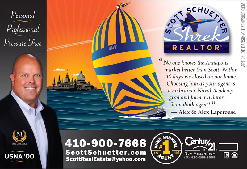 Summer Theme - Scott Schuetter Realtor Ad - part of an ongoing campaign in What's Up? Annapolis  magazine