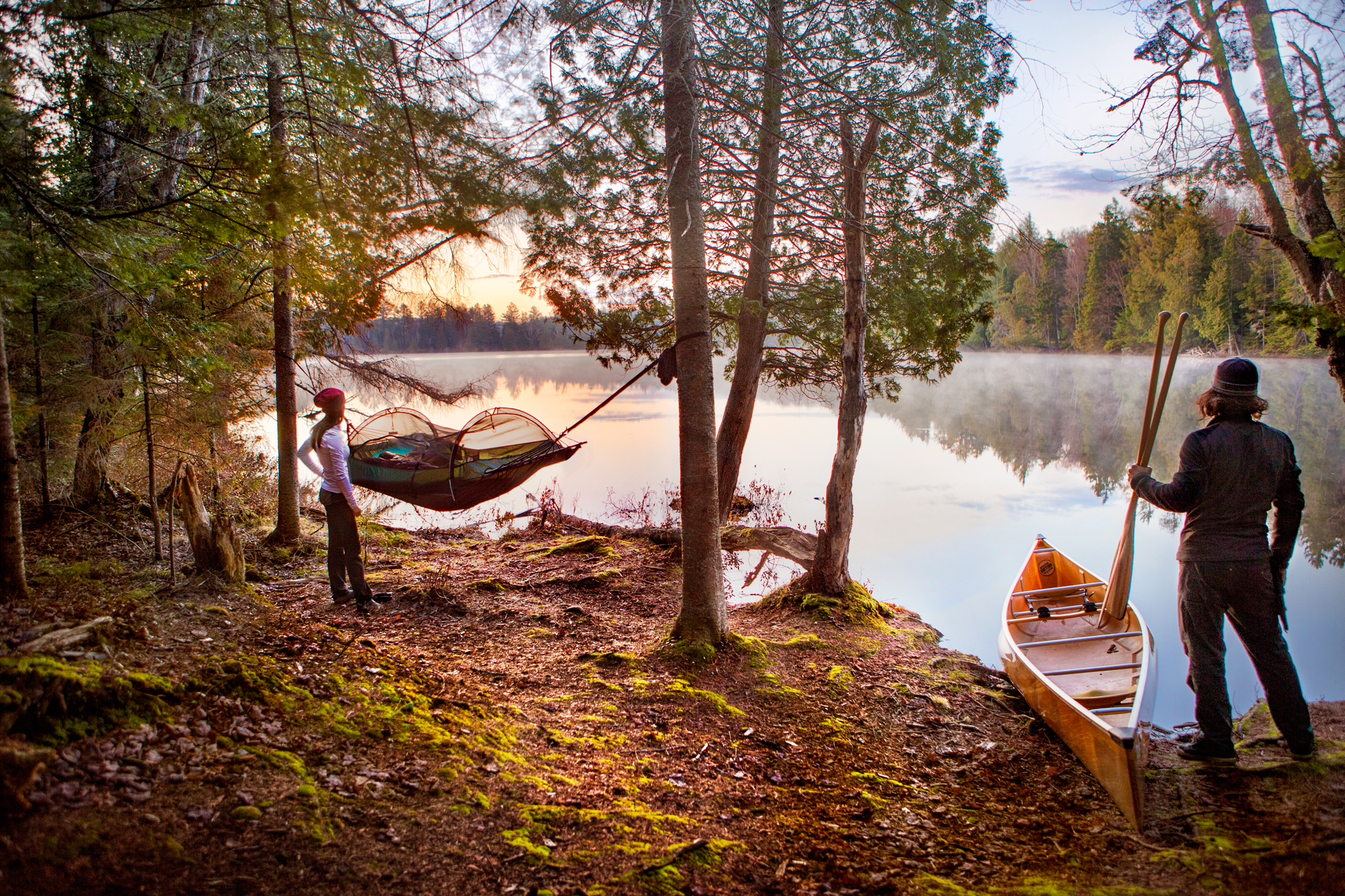 Lawson Hammock and Wenonah Canoe at our first night's camp