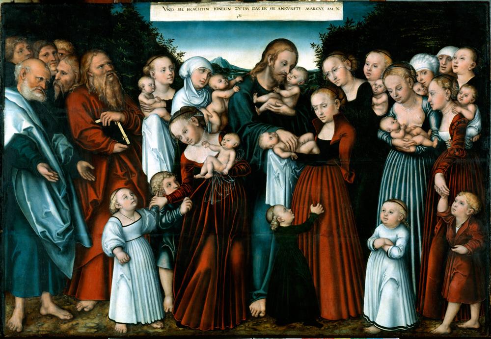 LUCAS CRANACH der JUENGERE ,Christus segnet die Kinder um 1540