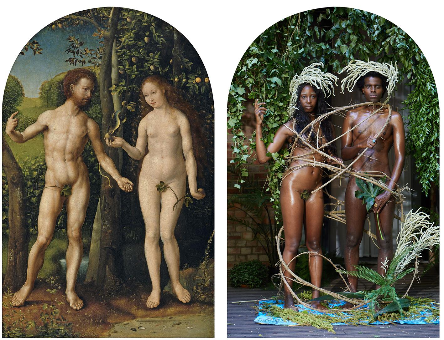 ADAM and EVE after JAN GOSSAERT ca 1507-1508