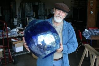Rob Adamson and glass globe
