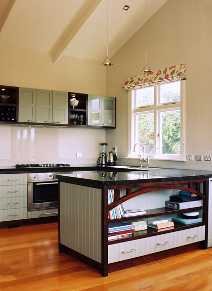Contemporary kitchen for a bungalow style home.