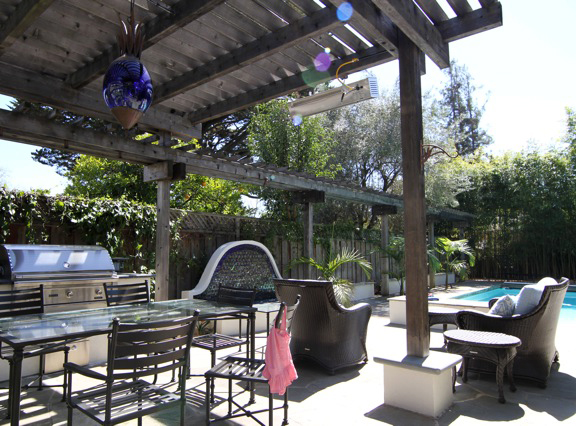 Outdoor kitchen and firepit