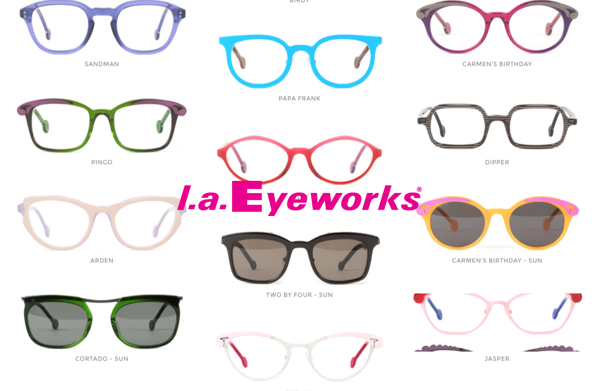 l.a. Eyeworks are now available at select Eye Columbus stores