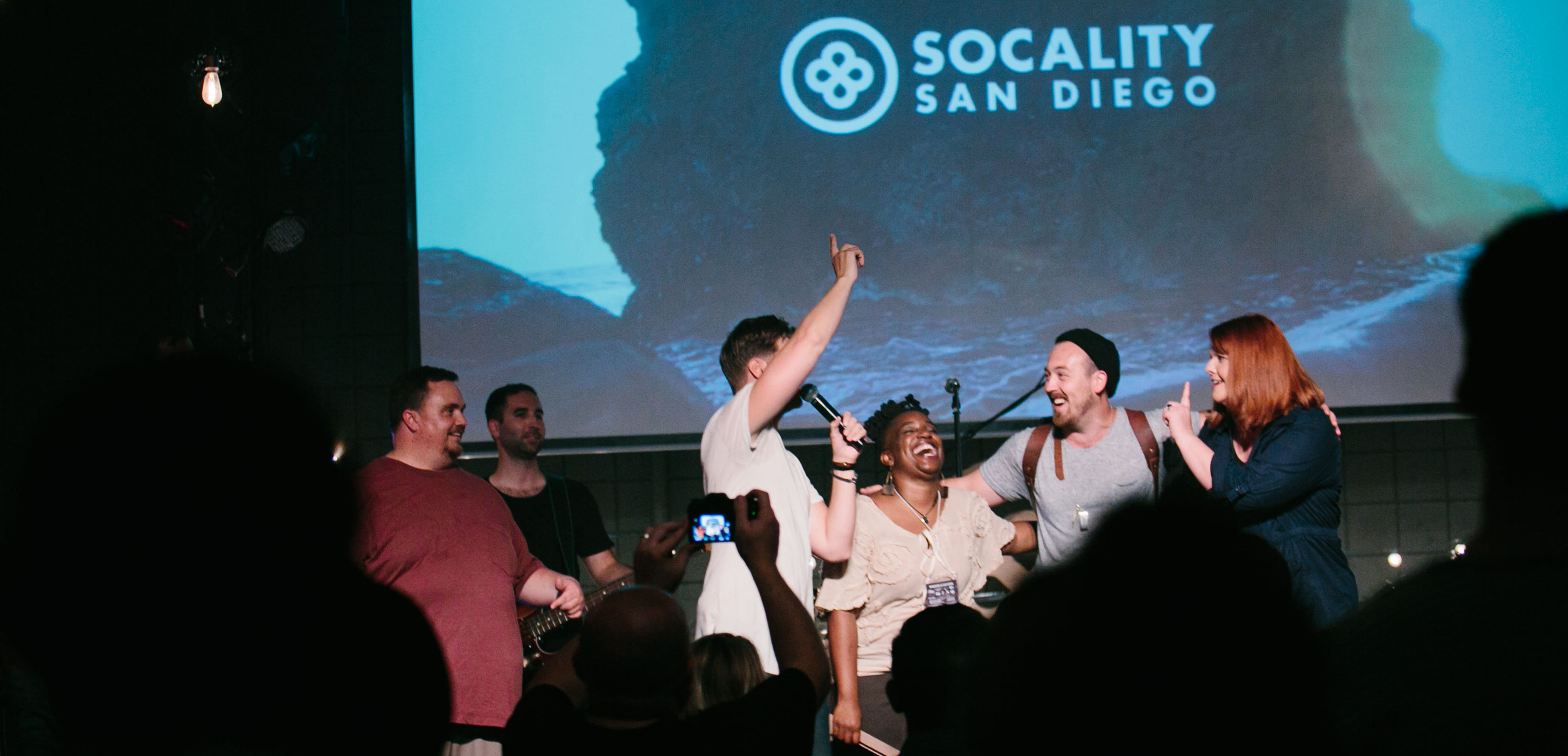 Night one of Socality Live San Diego we spontaneously sang happy birthday to three attendees on July 29, 2015.