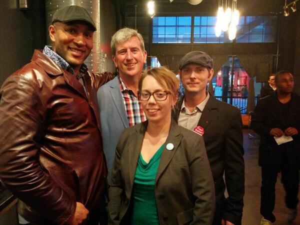 Andray, Glen, Jolene, Peter speaking about transit