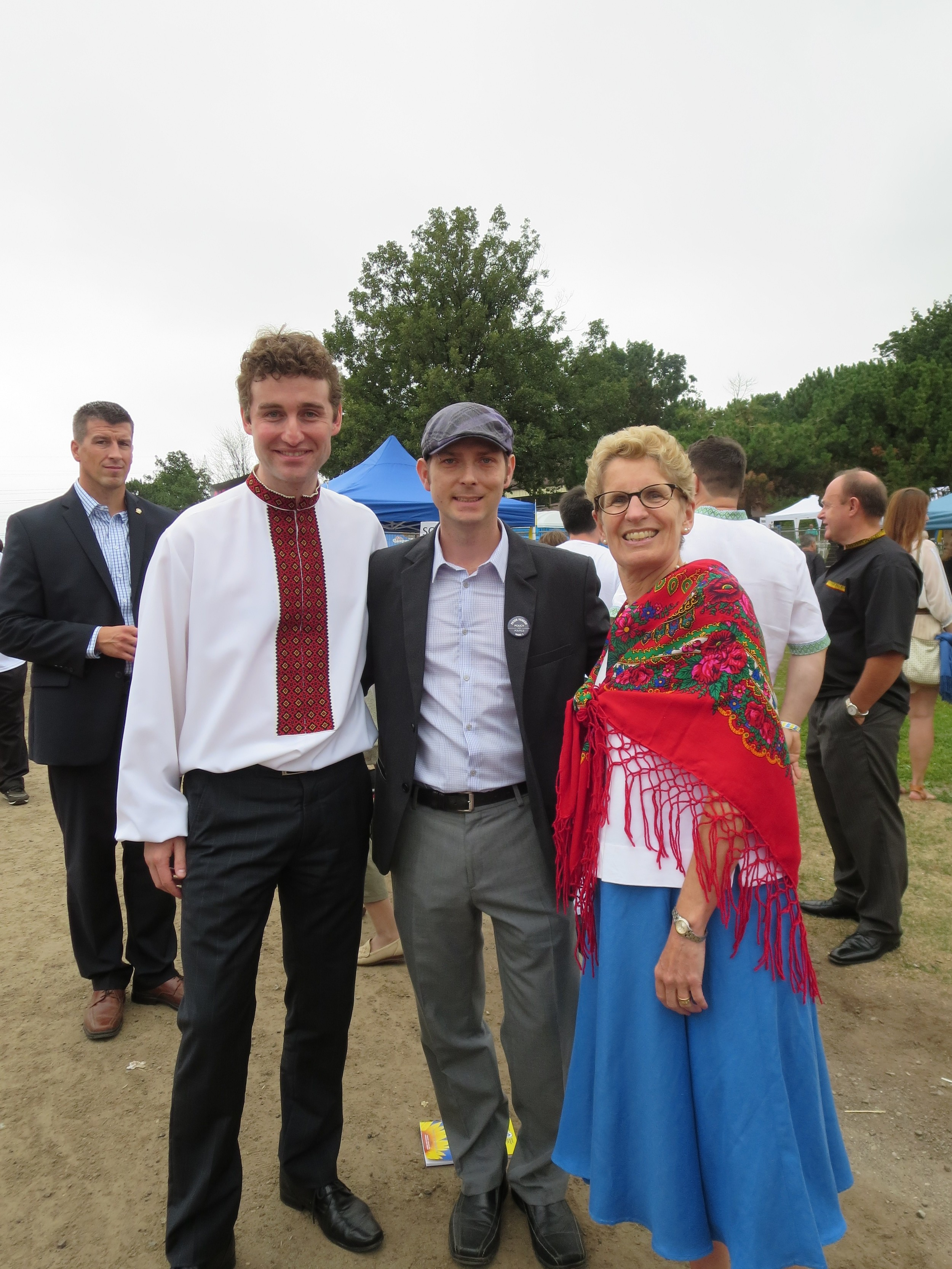 Etobicoke Centre MPP Yvan Baker, Peter Fenech & Ontario Premier Kathleen Wynne