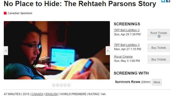 No Place to Hide: Rahtaeh Parsons Story