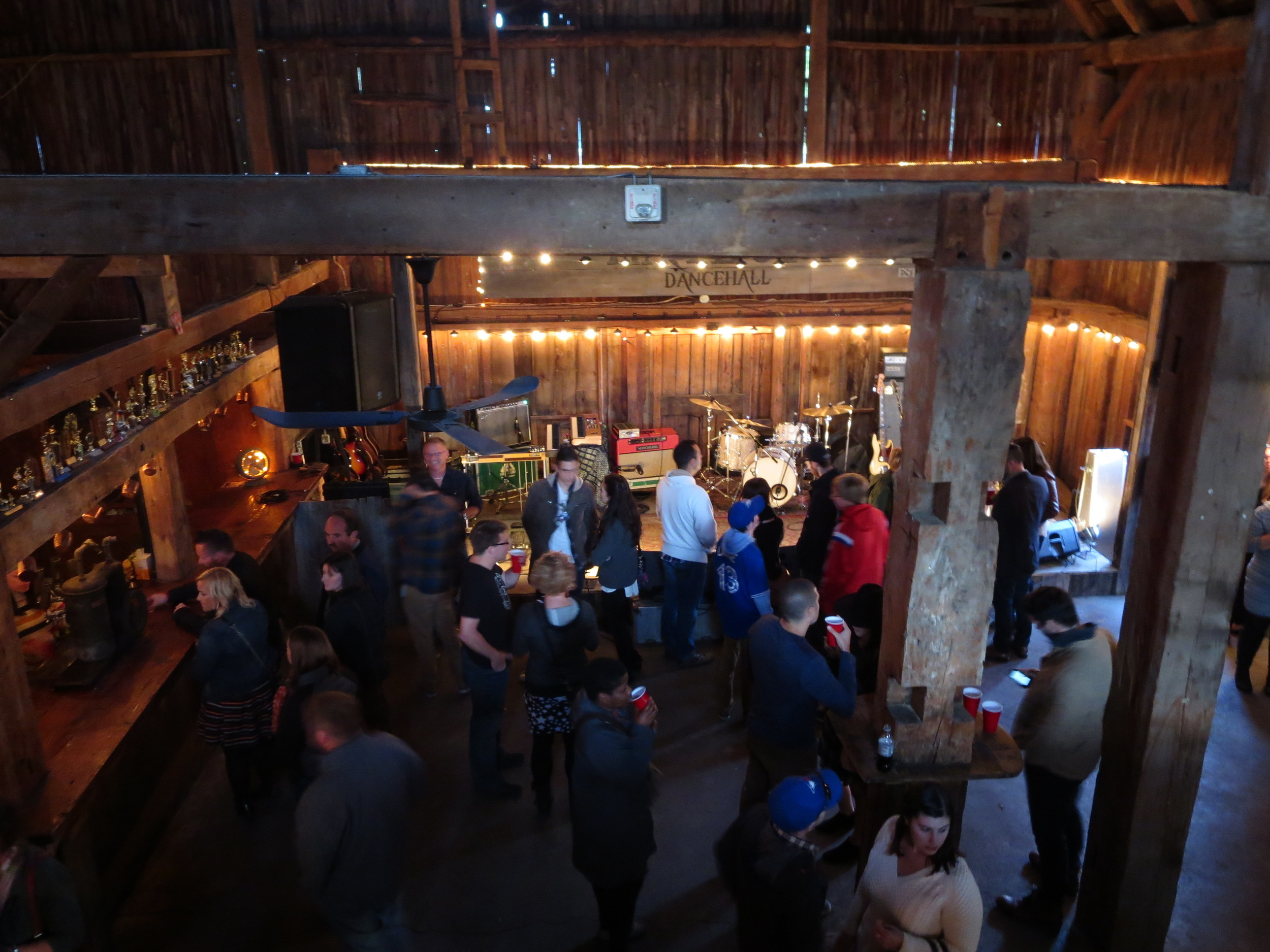 Bird's eye view of The Hayloft