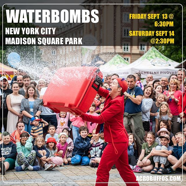 NYC - prepare for a water balloon gladiator fight. #acrobuffos #waterbombs #madisonsquarepark #clownsbentonworlddomination
