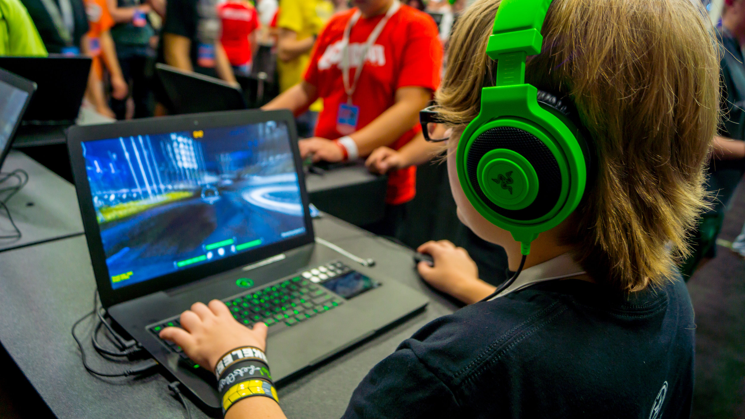 Razer Products in use at demo booth