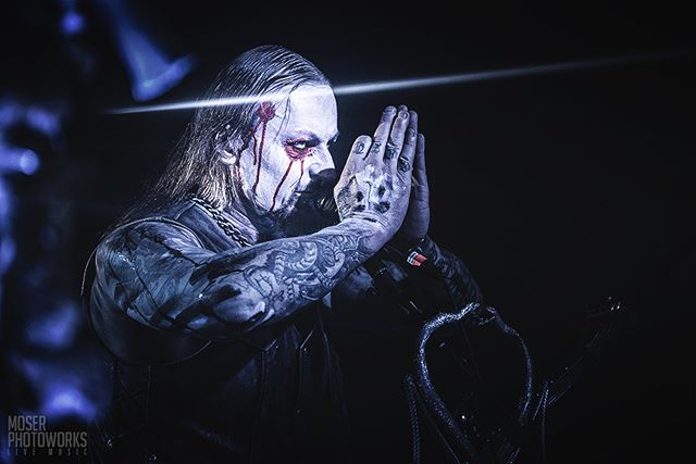 Moments before this image was shot as Helmuth was finishing his solo at my position, he jammed his middle finger on my lens (thankfully I had a UV filter attached) producing this slash-like flare.⁣ @belphegor_official⁣ ⁣⁣⁣⁣~~~~~~~~~~~~~~~~~~~~~~~~~~~~~ **Nikon D750** 70mm @ f/2.8, 1/500th sec, ISO 4000 ~~~~~~~~~~~~~~~~~~~~~~~~~~~~~