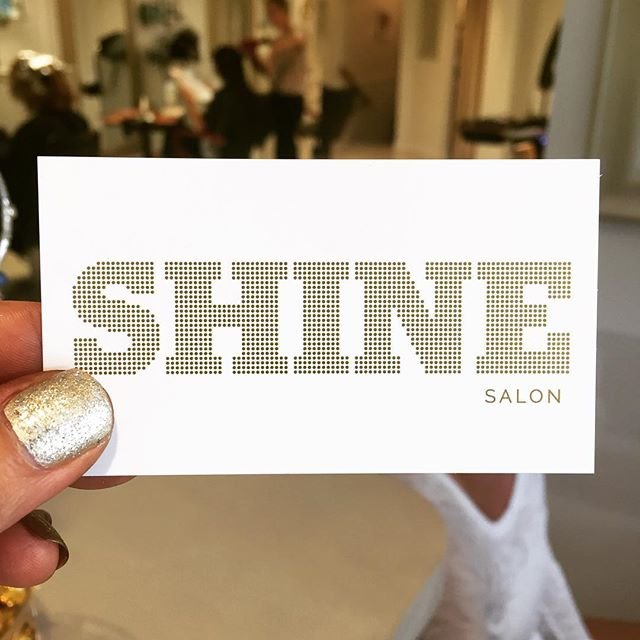 What do you think of our new name to go with our new look? #shineon  #stillus  #shinesalon#formerlylucashea
