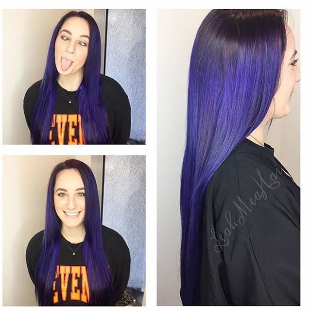 Amazing purple people eater color :) by none other than the talented stylist @leah_mea  @shinesalondanapoint #danapointhairsalon #coastalhaircolor #welovedanapoint