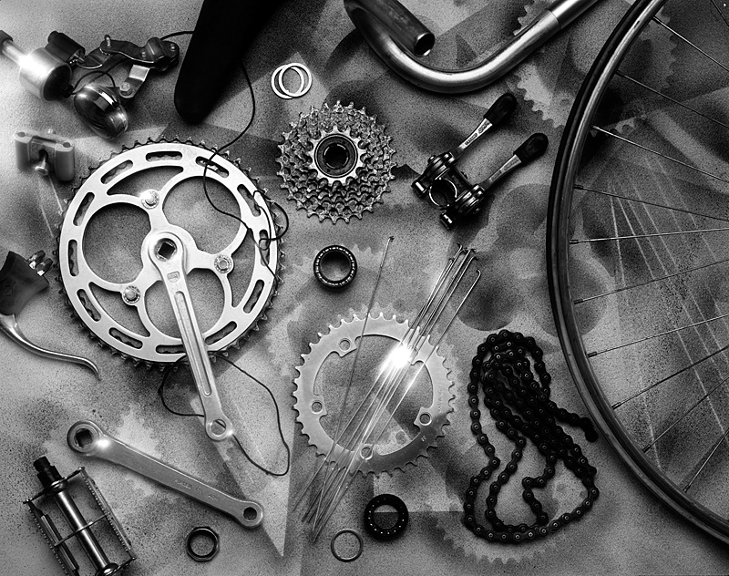 Bicycle Parts  B&W.jpg