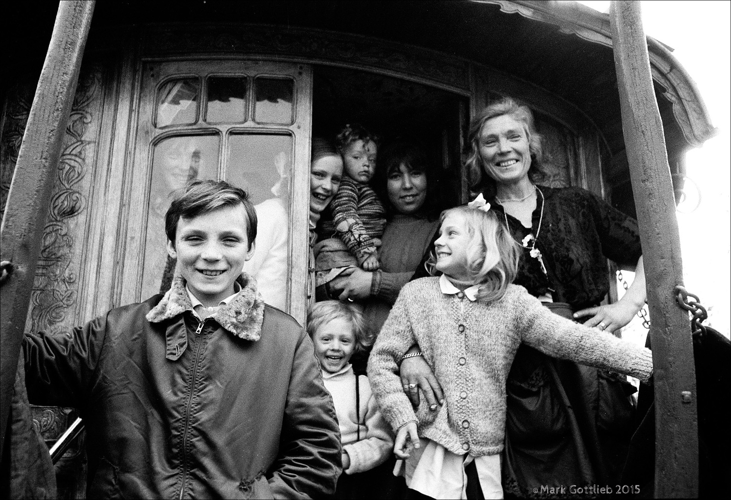 Gypsy Family, Grenoble, France 1971