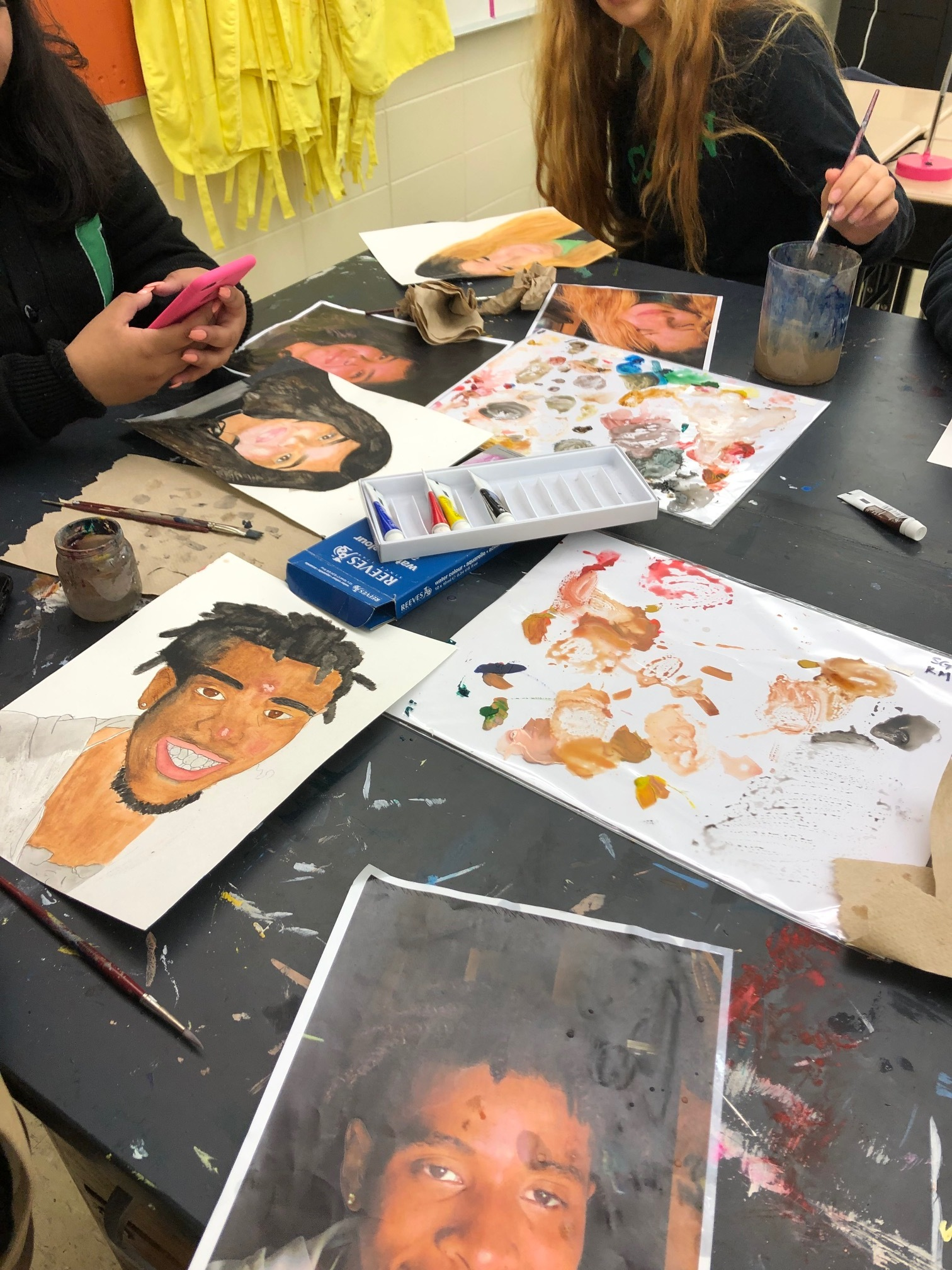 Self Portraits in Art 2, Introduction to Watercolor
