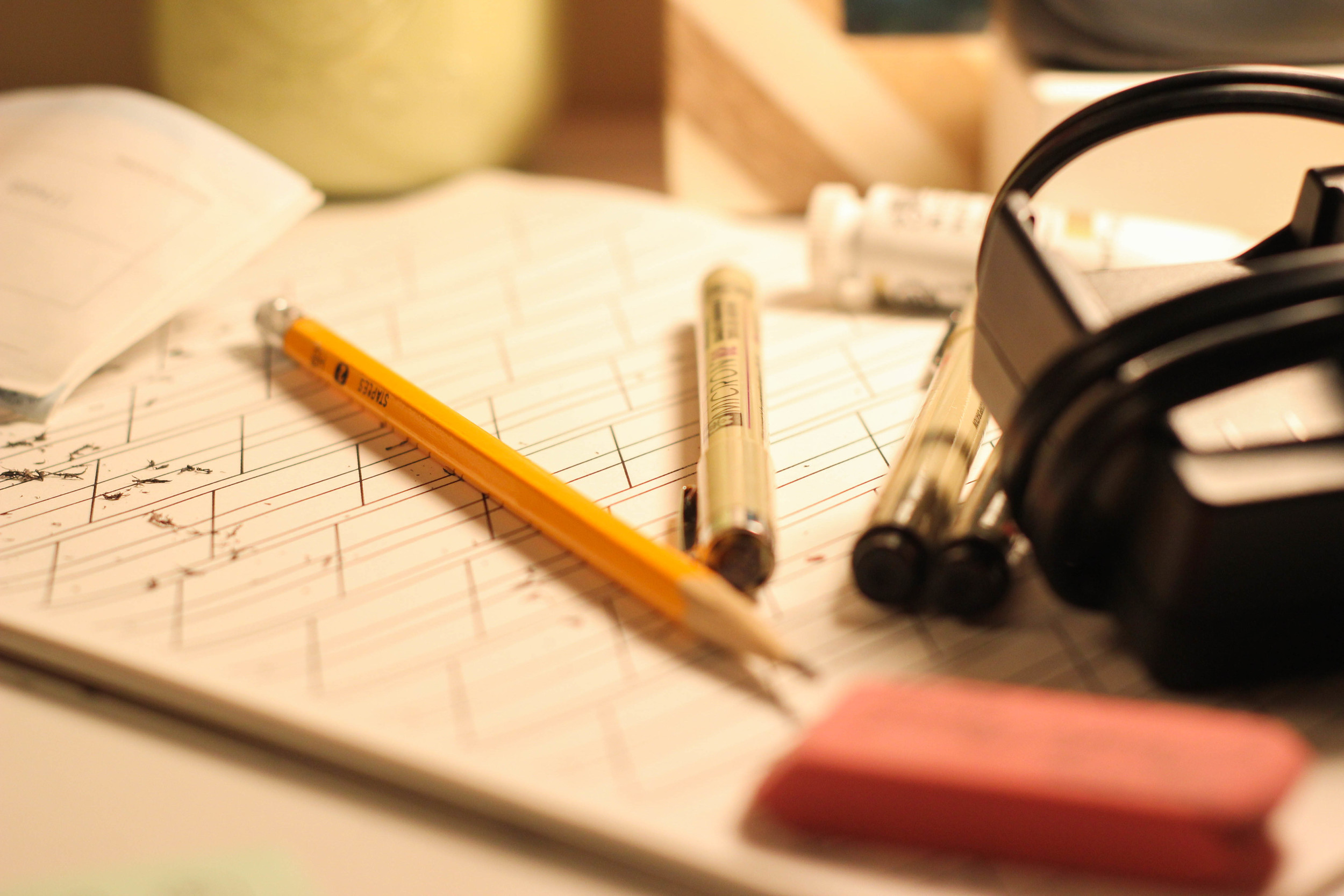 Pencils erase. Ink does not, unfortunately.