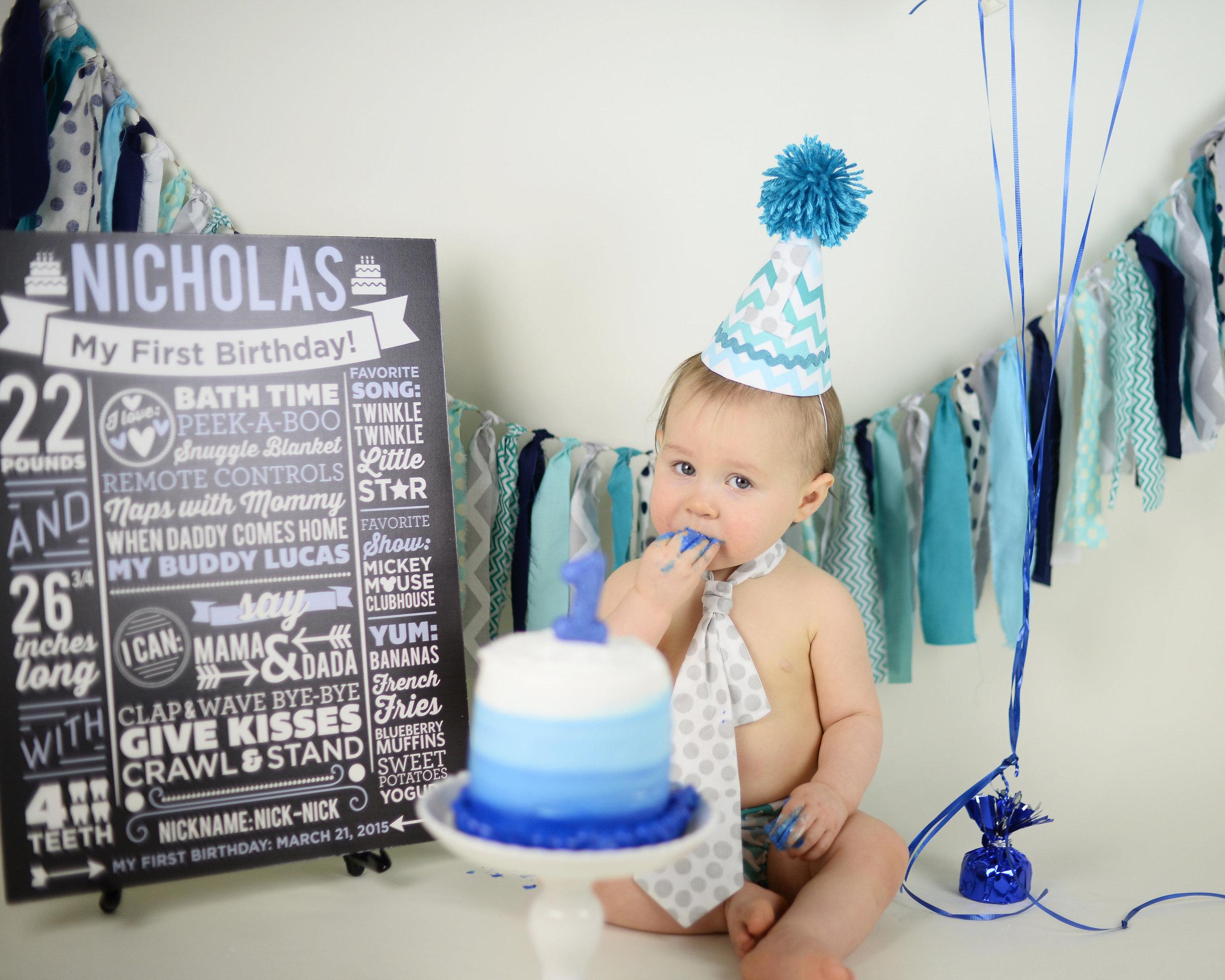 I also made a print for the birthday boy! Too precious.Photo by Brandy Robles.