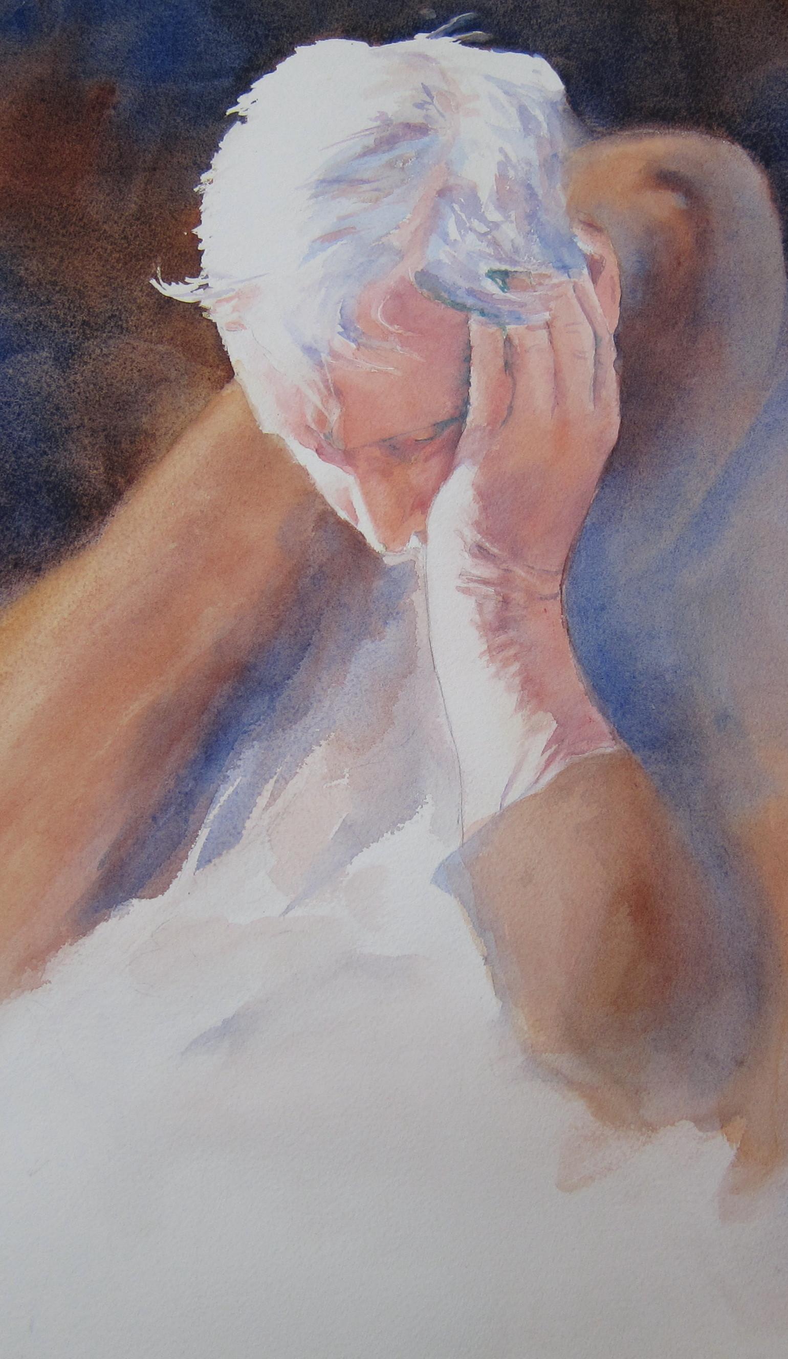 Nunc Dimittis  (Song of Simeon)  Care Center Series  Watercolor