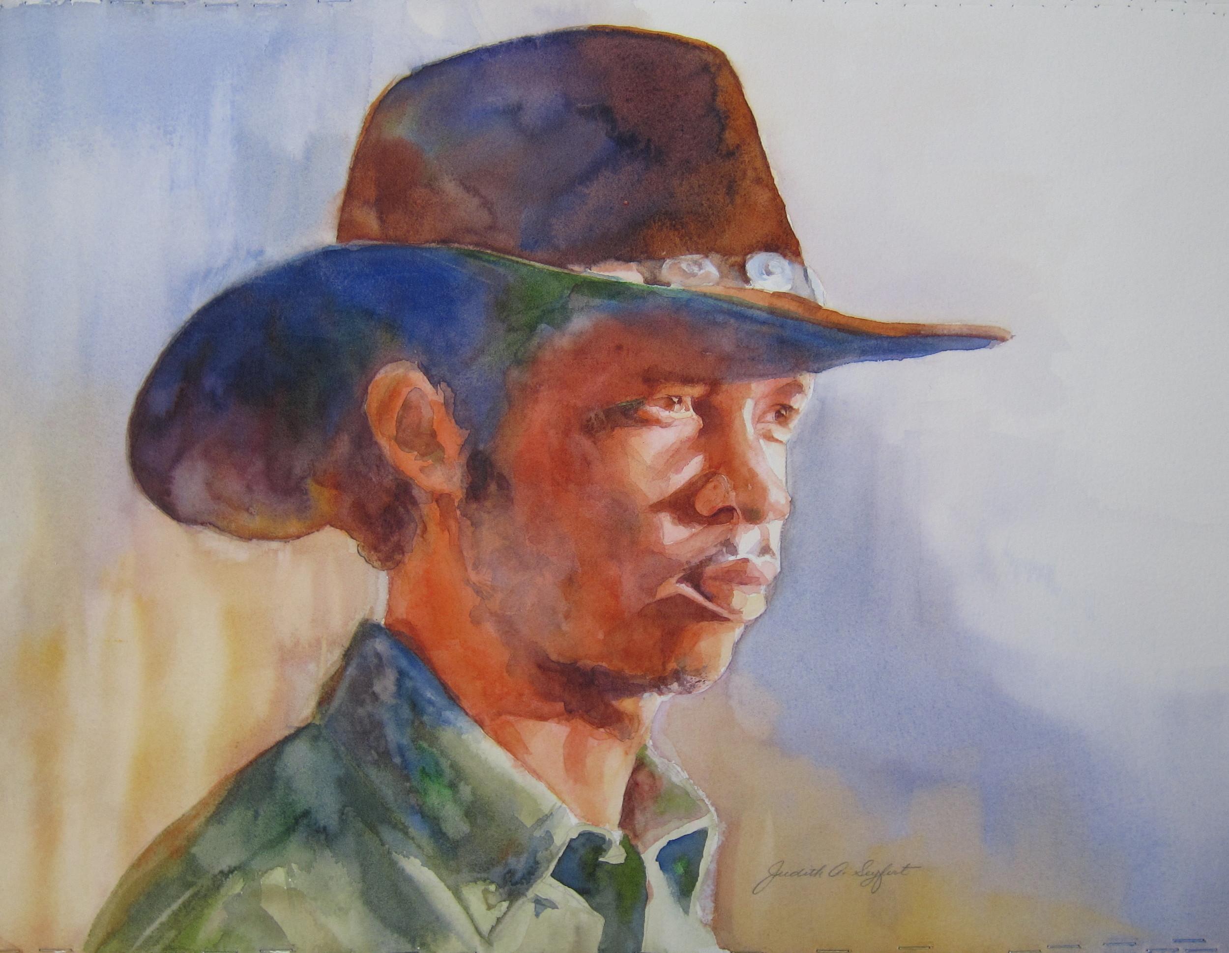 "The Cowboy  11"" X 15""  Watercolor"