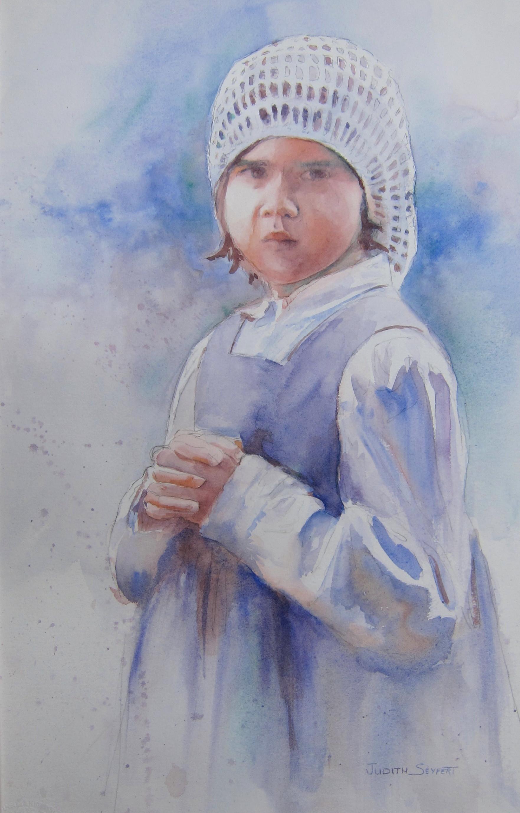 "Prayers for Daddy  Civil War Series  22"" X 15""  Watercolor"