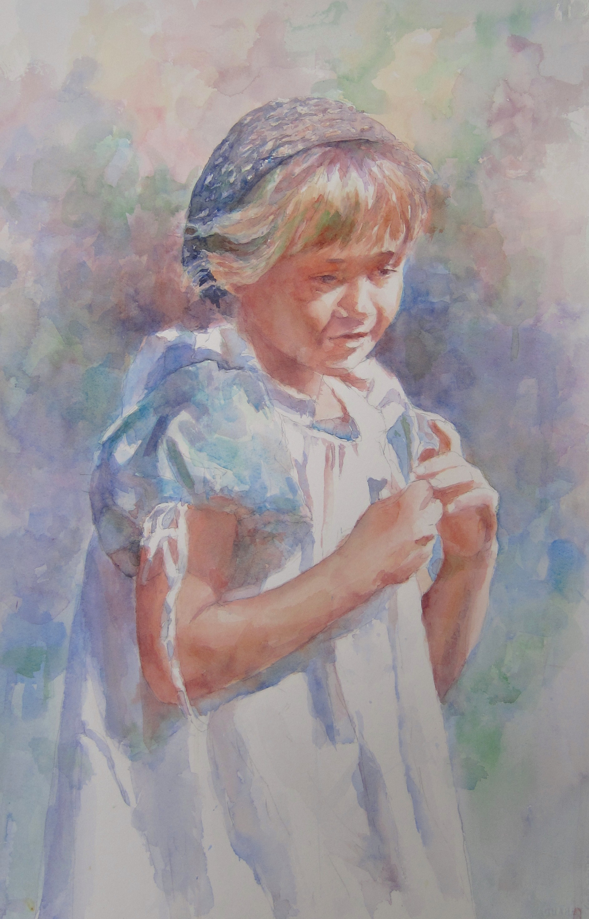 "Hannah  Civil War Series  22"" X 15""  Watercolor"