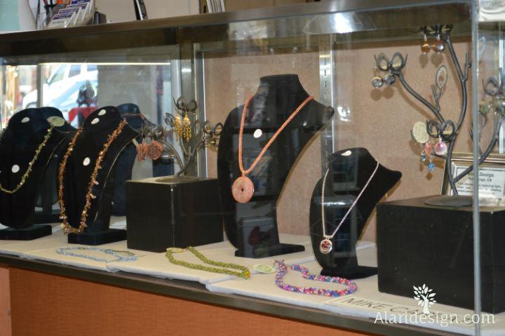 Alari Jewelry in Bakersfield Art Association Display