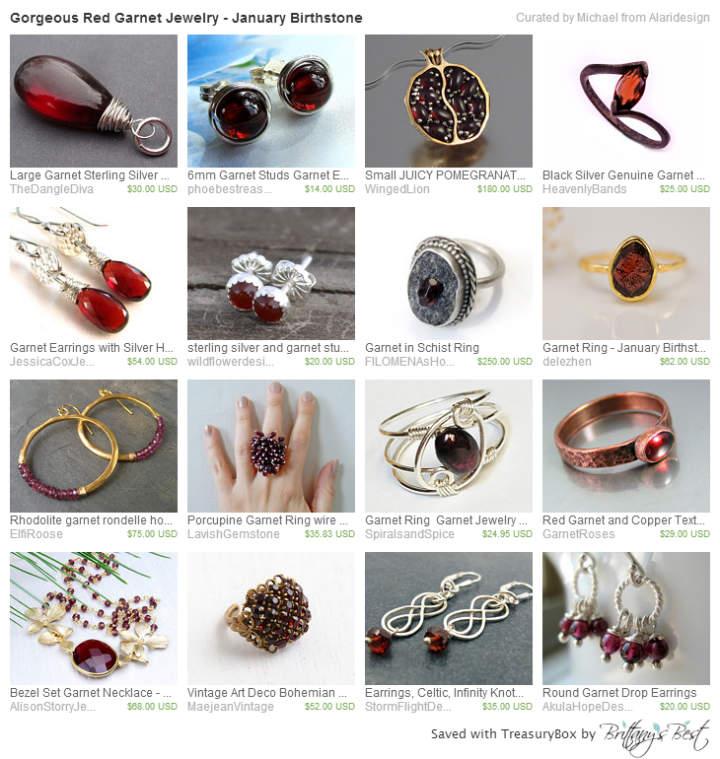 Gorgeous Red Garnet Jewelry - January Birthstone