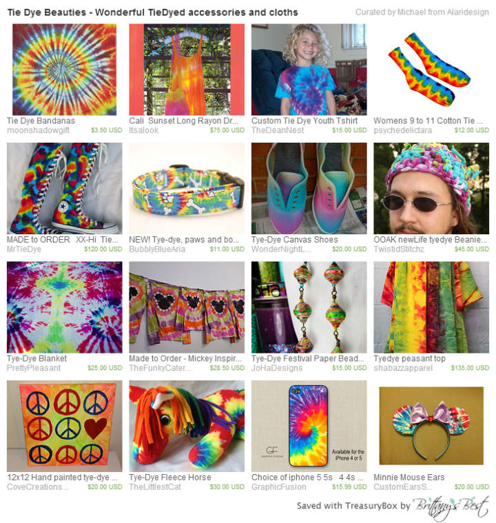 Tie Dye Beauties - Wonderful TieDyed accessories and cloths